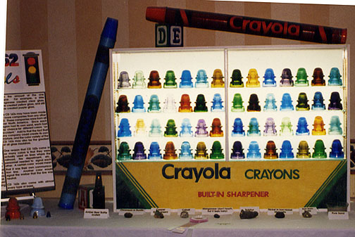 Display of CD 162 Signal Glass Insulators in All Colors