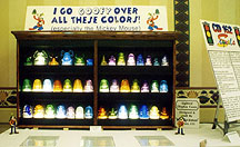 Display of Glass Insulators in All Colors