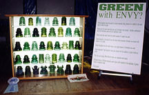 Green With Envy Display of Green Glass Insulators