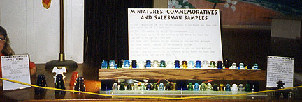 Display of Miniature Insulators, Commemorative Insulators, and Salesman Samples